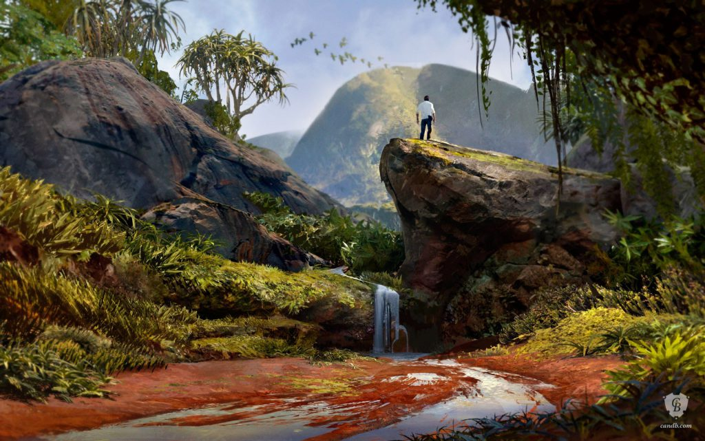 concept art image for video game Uncharted 4 by artist Eytan Zana for Naughty Dog
